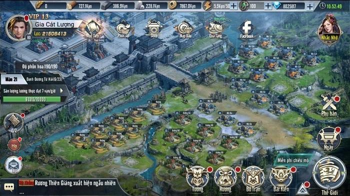 Game thủ Tam Quốc Vương Giả đắm chìm trong chuỗi nhiệm vụ xây thành, điều binh 7