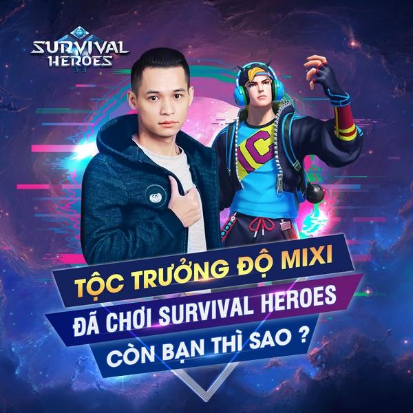 Bất ngờ trước cảnh nhiều hot streamer tìm đến chơi thử game Survival Heroes Việt Nam 0