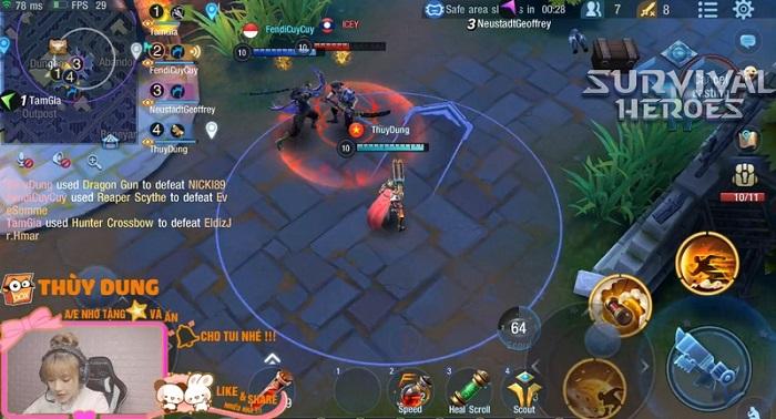 Bất ngờ trước cảnh nhiều hot streamer tìm đến chơi thử game Survival Heroes Việt Nam 4