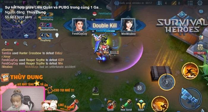 Bất ngờ trước cảnh nhiều hot streamer tìm đến chơi thử game Survival Heroes Việt Nam 5
