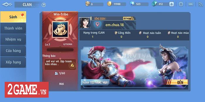 Game thủ Survival Heroes Việt Nam đua nhau lập Team, dựng Clan 1