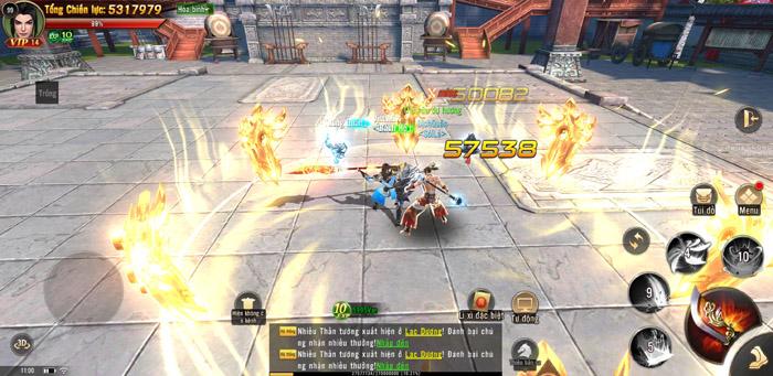 Đao Kiếm Vô Song Mobile cho người chơi hoán đổi 2 vũ khí qua lại ngay khi thực chiến 3