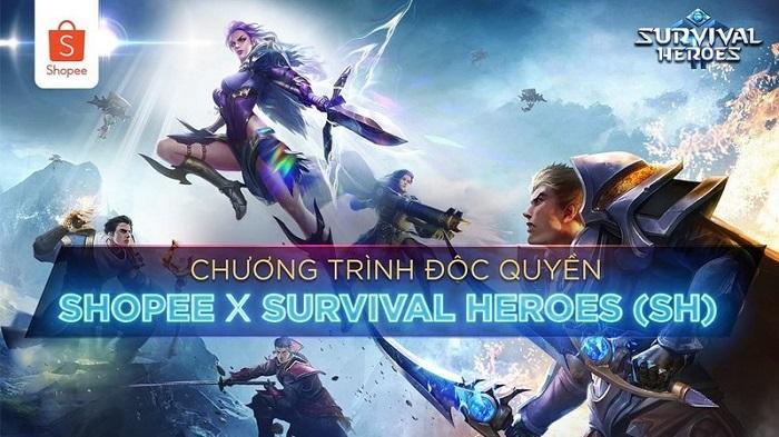 Survival Heroes Việt Nam hợp tác cùng Shopee tung ưu đãi lớn dành cho game thủ 2