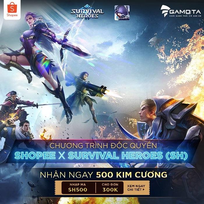 Survival Heroes Việt Nam hợp tác cùng Shopee tung ưu đãi lớn dành cho game thủ 1