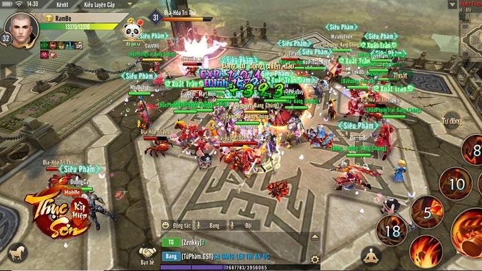 Với đông người chơi như này thì gọi Thục Sơn Kỳ Hiệp Mobile là
