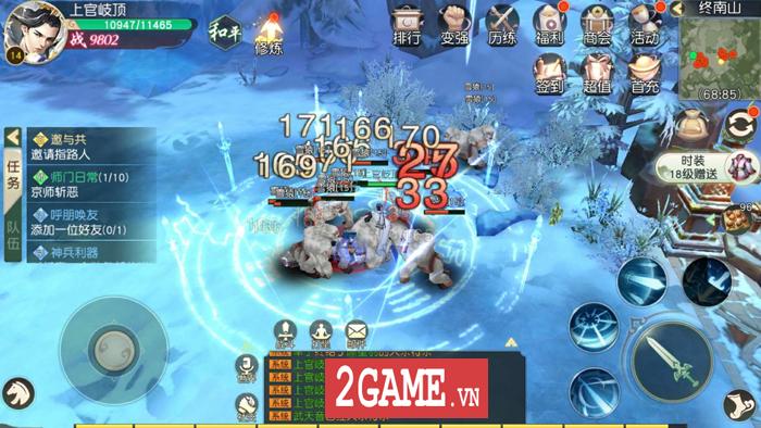 Ngạo Kiếm Vô Song Mobile cho phép người chơi dùng tới 10 kỹ năng khi PK 1