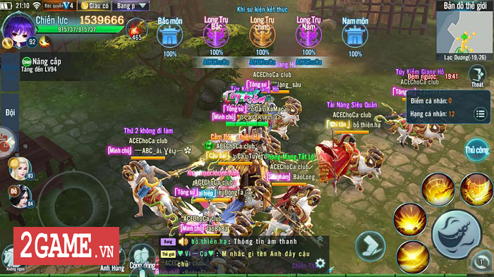 Khi Bang hội trong game Nhất Kiếm Giang Hồ