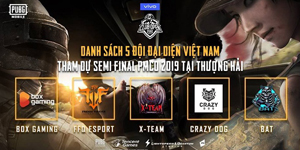 VNG sẽ tài trợ toàn bộ chi phí cho 5 đội tuyển PUBG Mobile tham dự giải đấu tại Thượng Hải