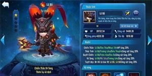 Game đấu thẻ tướng Thần Long 3Q Mobile nâng giới hạn level tướng lên cấp 75