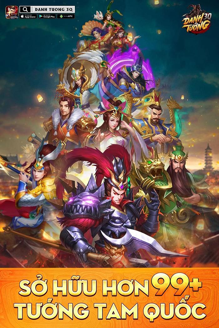 Danh Tướng 3Q VNG mở đăng ký sớm cho game thủ vào nhận quà ngon 1