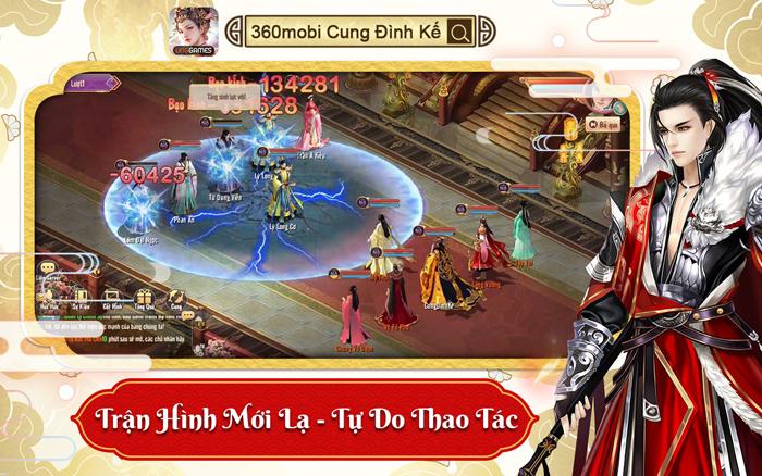 Việt Nam xuất hiện game cung đấu đồ họa 3D đầu tiên mang tên 360mobi Cung Đình Kế 3