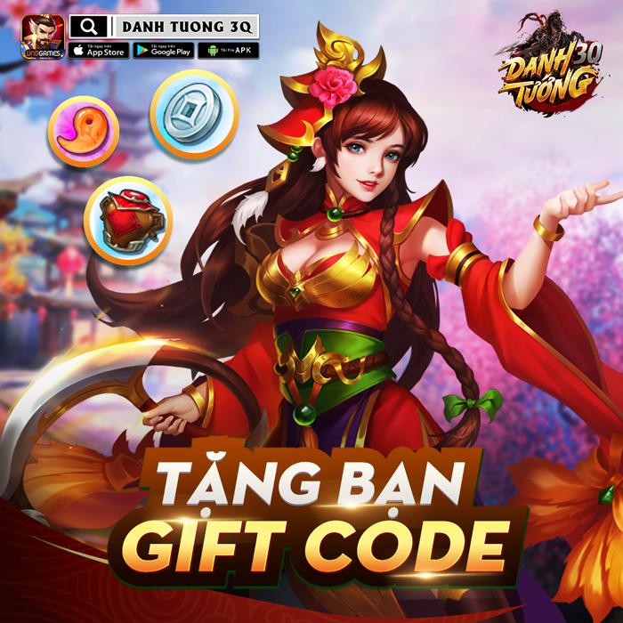 Tặng 444 giftcode Danh Tướng 3Q VNG 1