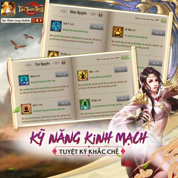 Người chơi Tân Thiên Long Mobile VNG sắp được đả thông kinh mạch 0