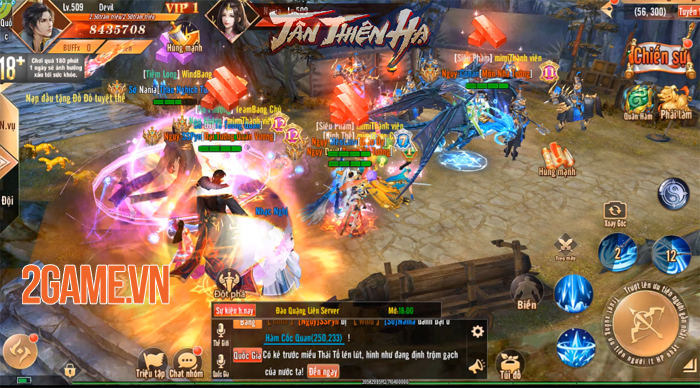 Đặt chân vào Tân Thiên Hạ Mobile người chơi chỉ việc PK cũng lên cấp! 1