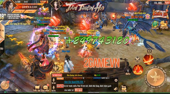 Đặt chân vào Tân Thiên Hạ Mobile người chơi chỉ việc PK cũng lên cấp! 5