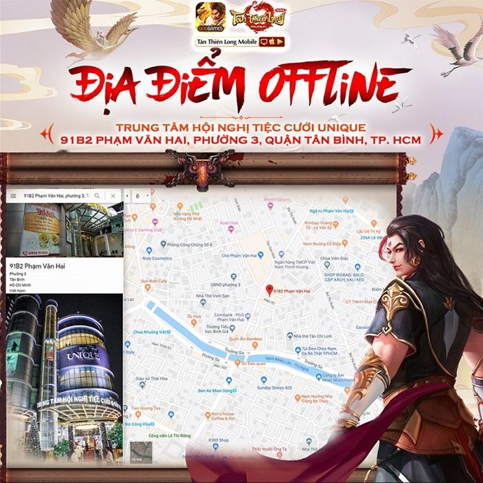 Game thủ Tân Thiên Long Mobile VNG sẽ có cơ hội chơi thử phiên bản mới tại buổi offline 3