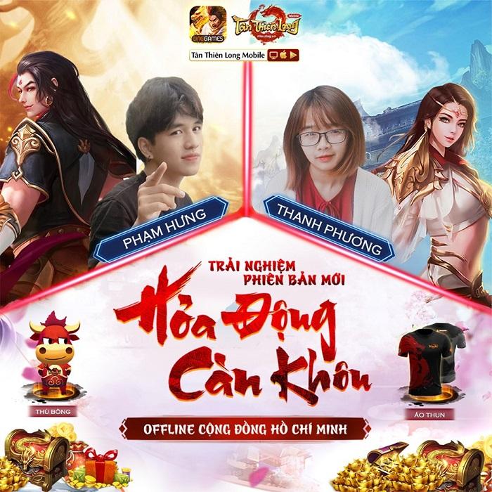 Game thủ Tân Thiên Long Mobile VNG sẽ có cơ hội chơi thử phiên bản mới tại buổi offline 1