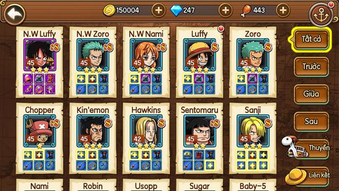 Sức hút của Kho Báu Huyền Thoại Mobile đến từ dàn tướng đậm chất One Piece 3