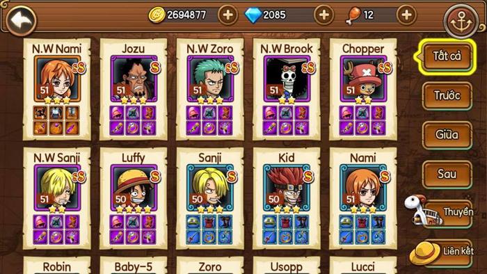 Sức hút của Kho Báu Huyền Thoại Mobile đến từ dàn tướng đậm chất One Piece 6