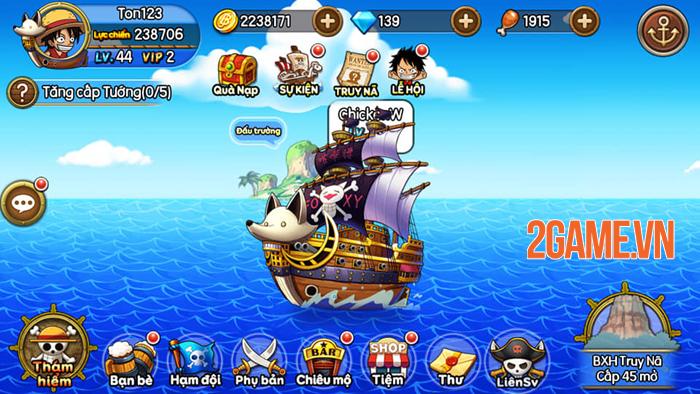 Sức hút của Kho Báu Huyền Thoại Mobile đến từ dàn tướng đậm chất One Piece 2