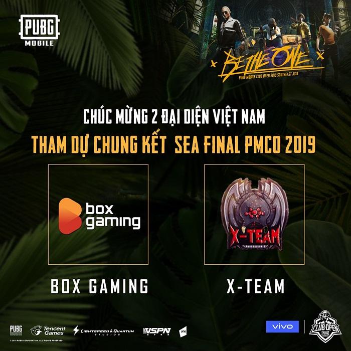 Box Gaming và X Team là đại diện của PUBG Mobile VN tham gia chung kết PMCO 2019 khu vực Đông Nam Á 3
