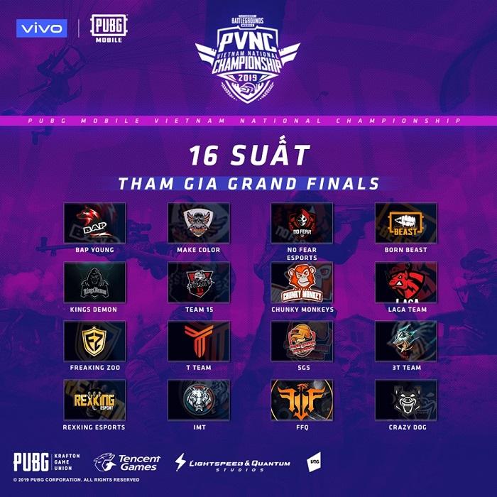 FFQ và Crazy Dog góp mặt trong 16 đội tham dự giải đấu PUBG Mobile Việt Nam National Championship 2019 0