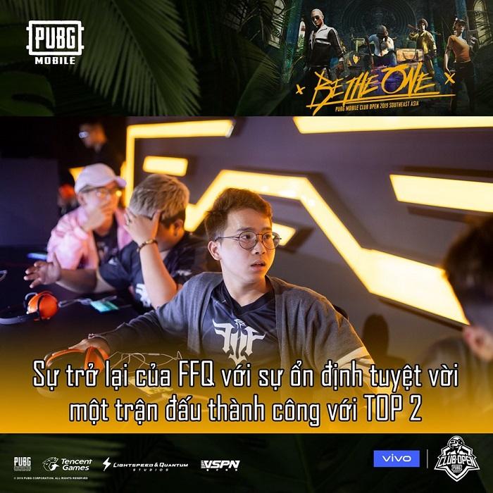 Đội tuyển PUBG Mobile VN FFQ dần lấy lại phong độ khi có sự xuất hiện của tuyển thủ Bucky 1