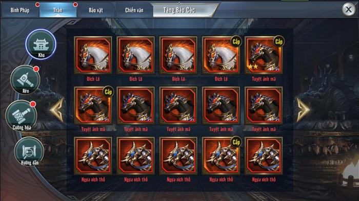 Tính năng Thần Binh chính thức ra mắt người chơi Tam Quốc Vương Giả Mobile 1