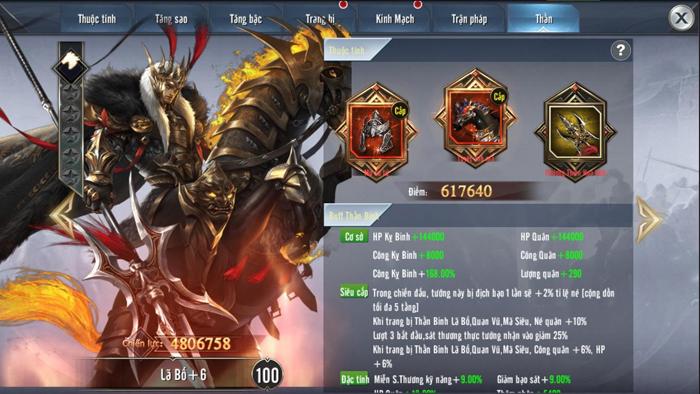 Tính năng Thần Binh chính thức ra mắt người chơi Tam Quốc Vương Giả Mobile 3