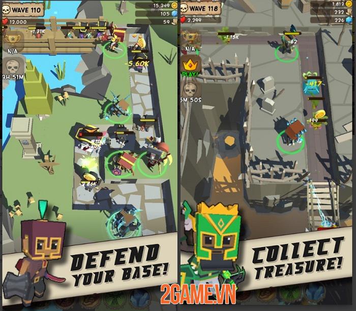 Idle Hero TD: Fantasy Tower Defense - Game thủ tháp dạng ủy thác chơi vô cùng cuốn hút 2