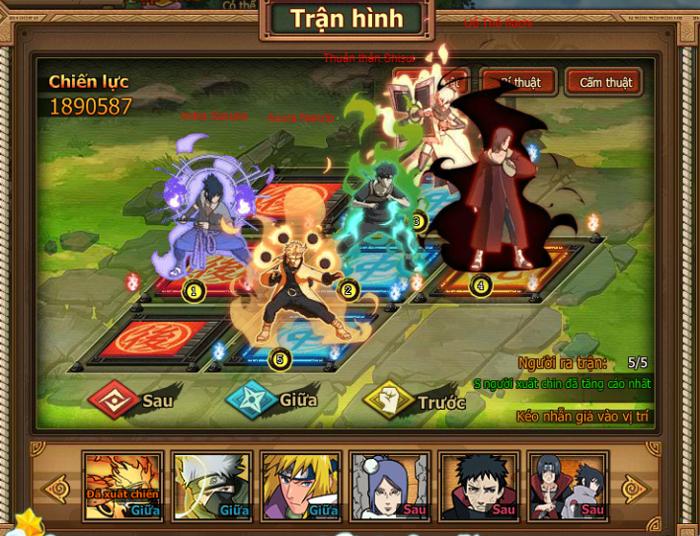 Naruto Truyền Nhân Làng Lá - Webgame thẻ tướng 3D hay ho ra mắt game thủ Việt 2