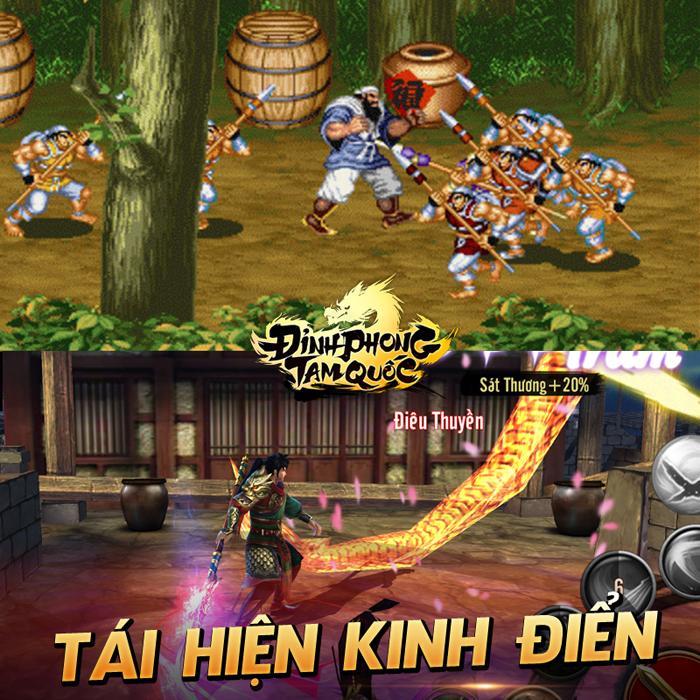 Đỉnh Phong Tam Quốc đưa tuổi thơ chiến game thùng, Playstation 2 trở lại trên mobile 6