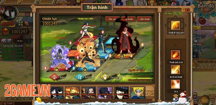 Webgame Naruto Truyền Nhân Làng Lá đưa cảm giác nhập vai đánh theo lượt trở lại 2