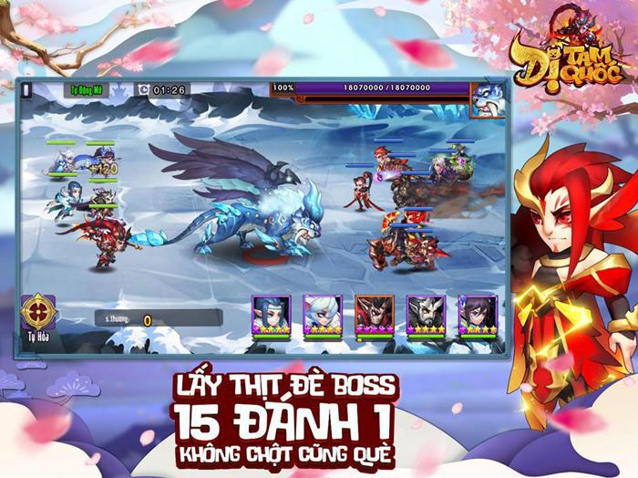 Dị Tam Quốc Mobile cho người chơi sử dụng đến 15 tướng trong một trận đại chiến 0