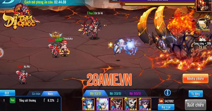 Dị Tam Quốc Mobile cho người chơi sử dụng đến 15 tướng trong một trận đại chiến 1