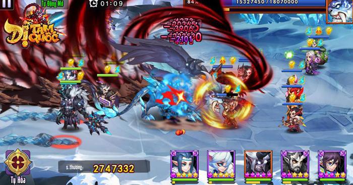 Dị Tam Quốc Mobile cho người chơi sử dụng đến 15 tướng trong một trận đại chiến 4