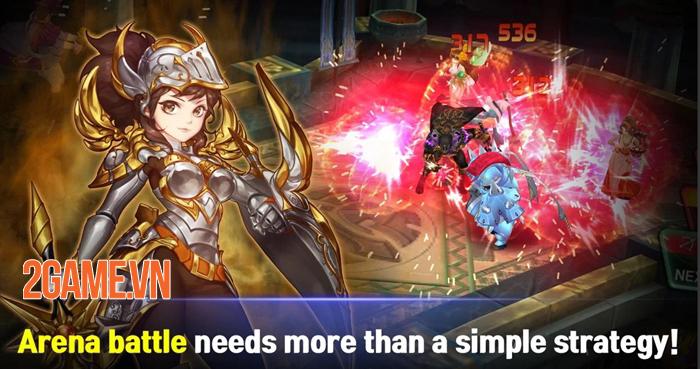 Game đánh theo lượt Guardian Knights xây dựng lên những khung cảnh đẹp như phim 1