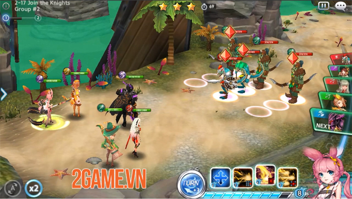 Game đánh theo lượt Guardian Knights xây dựng lên những khung cảnh đẹp như phim 2