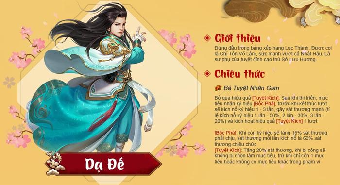 Tân Chưởng Môn VNG: Tướng mới Dạ Đế có thể gây ra hàng tấn sát thương 1