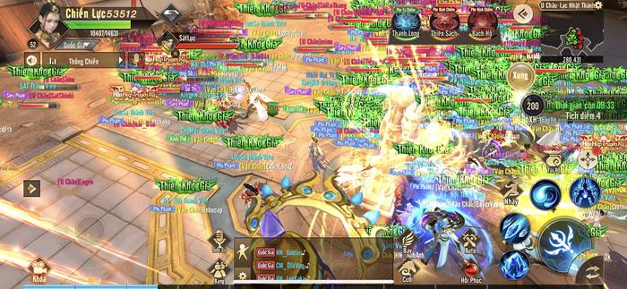 Game thủ Thiên Kiếm Mobile được độc quyền trải nghiệm Chiến trường vạn người huyền thoại 5
