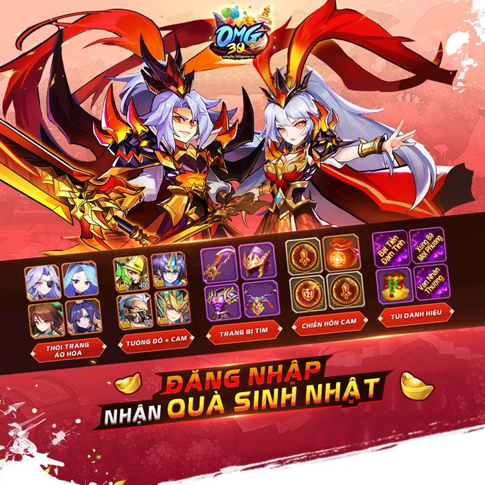 Mời fan game đấu thẻ tướng tham gia Đại chiến máy chủ Sinh Nhật cùng OMG 3Q VNG 1