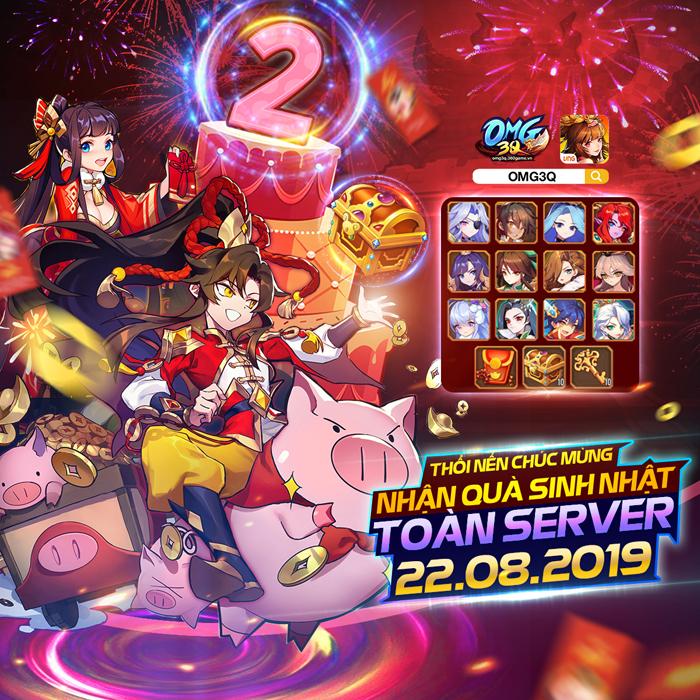 Mời fan game đấu thẻ tướng tham gia Đại chiến máy chủ Sinh Nhật cùng OMG 3Q VNG 4