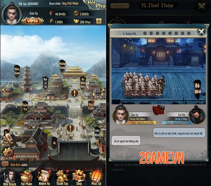 Lão Gia Lốc Cốc Mobile có hàng tá tính năng khiến bạn nhìn vào là muốn chơi liền! 3