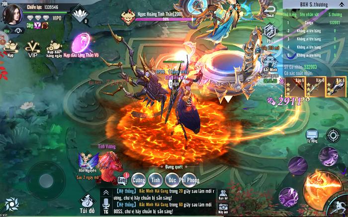 Game nhập vai Tinh Vân Kiếm Mobile vừa nhẹ lại vừa nhiều tính năng 2