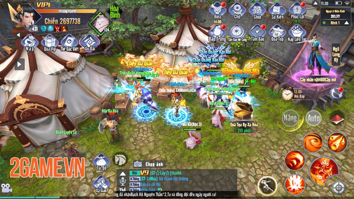 Dân cày có thể sống khỏe, PK sướng tay trong Kiếm Tung 3D Mobile 1