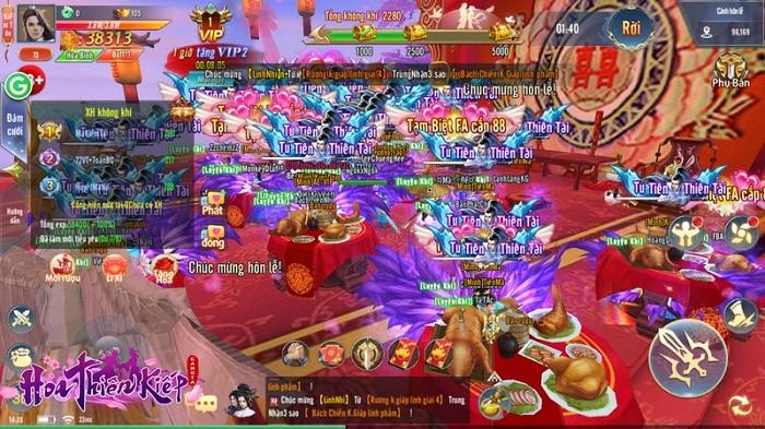 """Game thủ Hoa Thiên Kiếp náo nức rủ nhau đi ăn cưới được tổ chức """"như thật"""" 2"""