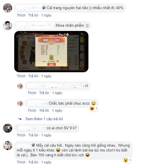 Cửu Dương Truyền Kỳ lên TOP 1 cũng không vui bằng đọc những bình luận này! 9