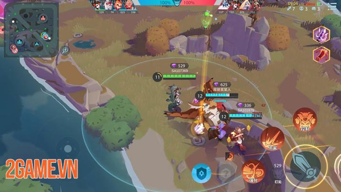 Shining Arena - Game MOBA di động thú vị combat liên tục mà không cần farm lính 1