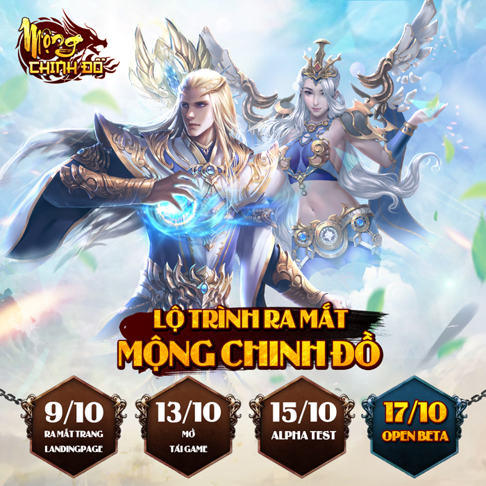 Thiên đường cày cuốc Mộng Chinh Đồ Mobile công bố ngày mở game 0