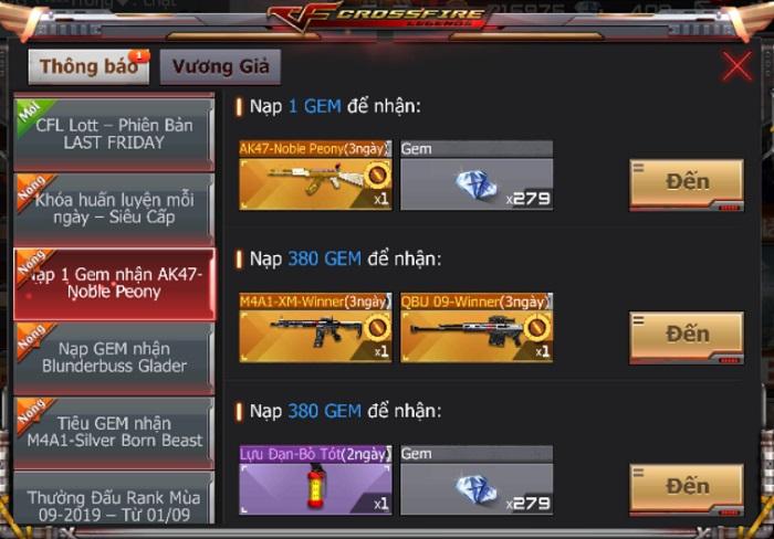 Game thủ CrossFire Legends có cơ hội thu thập mảnh ghép nhận vũ khí VIP miễn phí 3